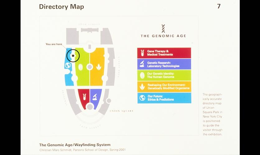 Directory Map, The Genomic Age, Parsons School of Design, Christian Marc Schmidt