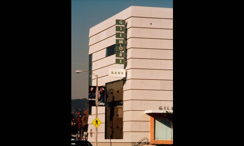 Exterior Signage, Gilmore Bank, Newsom Design