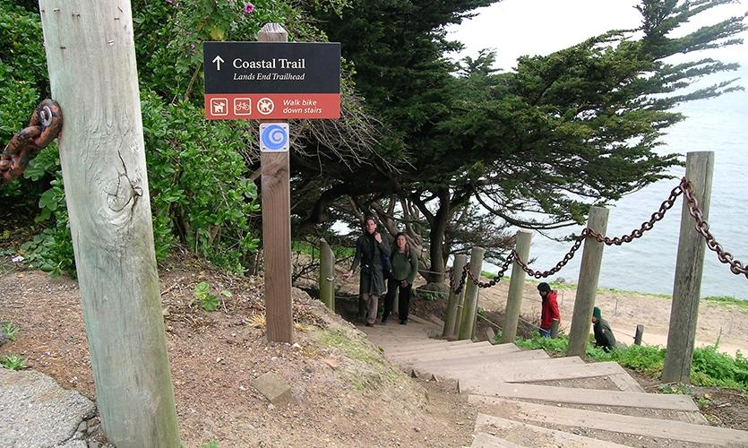 Coastal Trail, Golden Gates, Golden Gates National Parks Conservancy, Hunt Design
