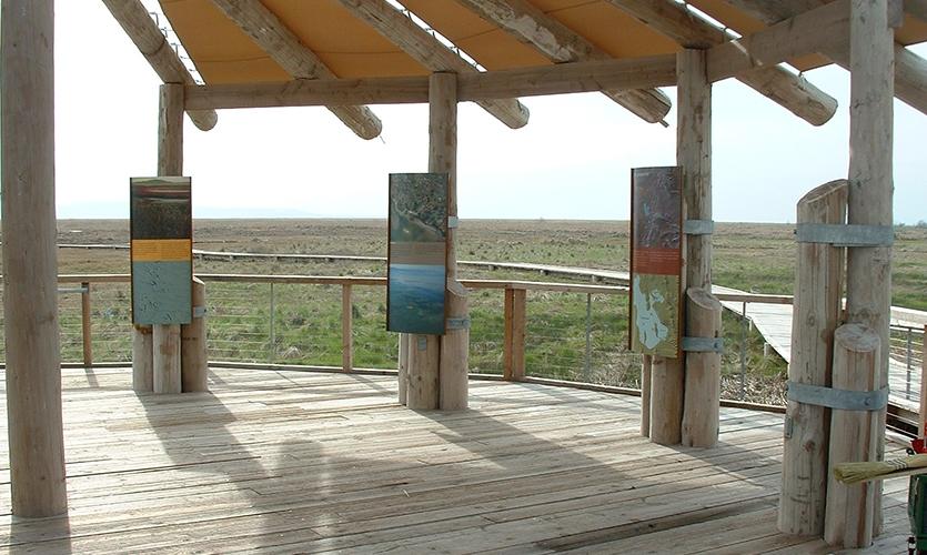 Trestle-Wood Pavilion, Great Salt Lake Shorelands Preserve, The Nature Conservancy, Utah, Sea Reach Ltd.