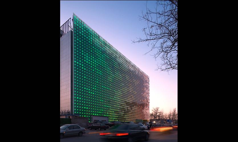 Exterior PV Cells, GreenPix Zero Energy Media Wall, Jingya Corporation, Simone Giostra & Partners Architects