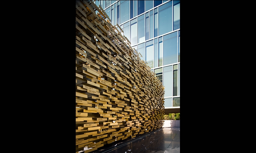 Angle View, LAPD Memorial, Los Angeles Police Foundation, Gensler