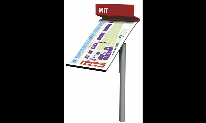 West Campus Map, MIT Wayfinding & Signage, Olin Partnership and Massachusetts Institute of Technology, Joel Katz Design Associates