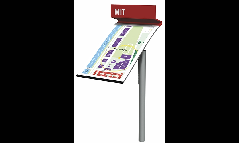 West Campus Map, MIT Wayfinding & Signage, Olin Partnership and Massachusetts Institute of Technology, Joel Katz Design Associates