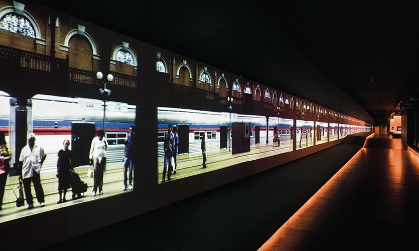 Grand Gallery Screen, The Museum of the Portuguese Language, Fundacao Roberto Marinho, Ralph Appebaum Associates