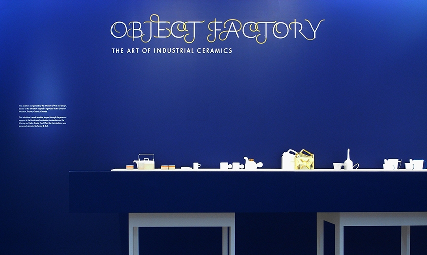 Wall Graphic, Object Factory: The Art of Industrial Ceramics, Museum of Arts and Design, Wendy Evans Joseph Architecture