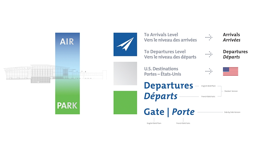 Signage, Ottawa MacDonald - Master Plan, Cartier International Airport Authority, Gottschalk + Ash International
