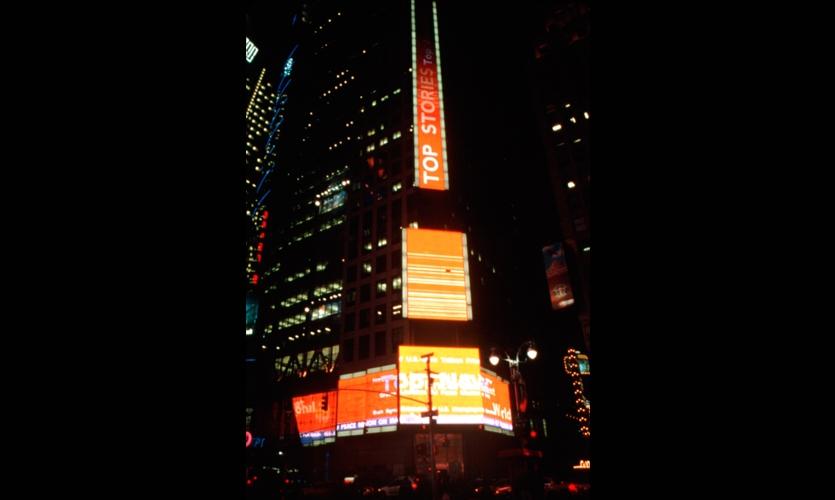 LED Panels, Reuters at 3 Times Square, Reuters North America, Instinet Corporation, ESI Design