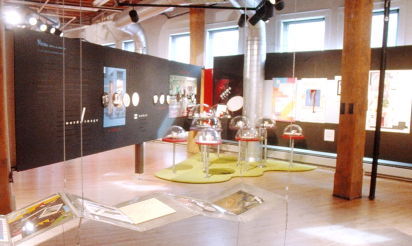 Exhibit Floor, Thinking and Making, William F. Eisner Museum of Advertising & Design, Kim Beckmann, Anne Ghory-Goodman