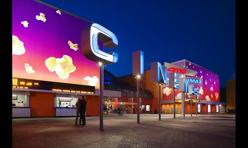 Channel Letters, Universal Studios AMC Cinema Graphics, Universal Studios Hollywood, Sussman/Prejza & Company