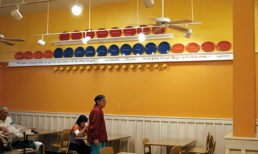 Plate Rails, St. Vincent de Paul Free Dining Room, Debra Nichols Design