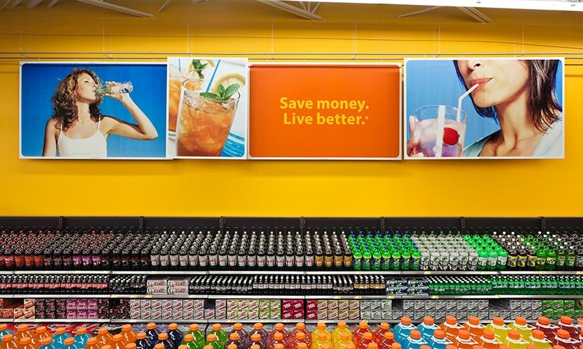 Beverage Signage, Wal-Mart Retail Environment, Wal-Mart, Lippincott