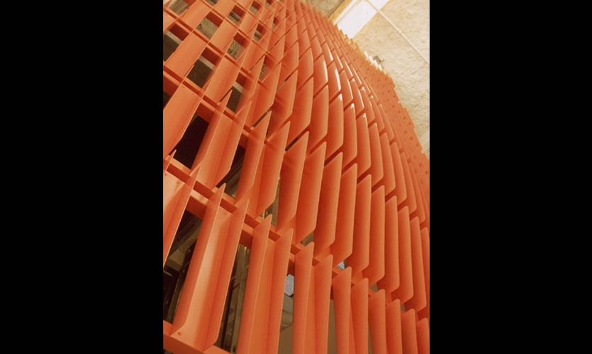 Close-Up of Metal Façade, Wattis Institute Entry Facade, California College of the Arts, Thom Faulders/Beige Design
