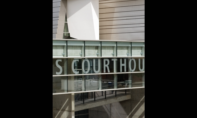 Window Lettering, Wayne Lyman Morse Courthouse, U.S. General Services Administration, Mayer/Reed
