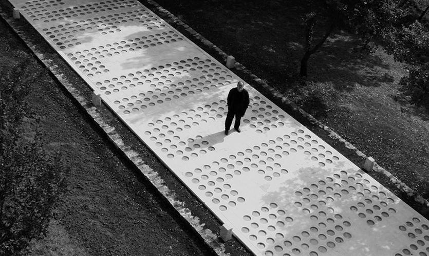 Overhead View of Road, White Road: Waiting for the Rain, Mediterranean Sculpture Symposium, Studio Rašić