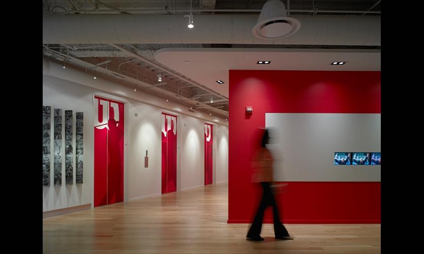 Door Graphics, Wilson Sporting Goods Headquarters, Gensler