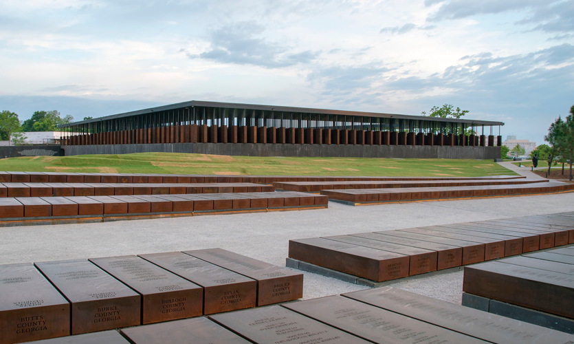 The National Memorial for Peace and Justice: Environmental Graphic Design Program Photo Credit: MASS Design Group