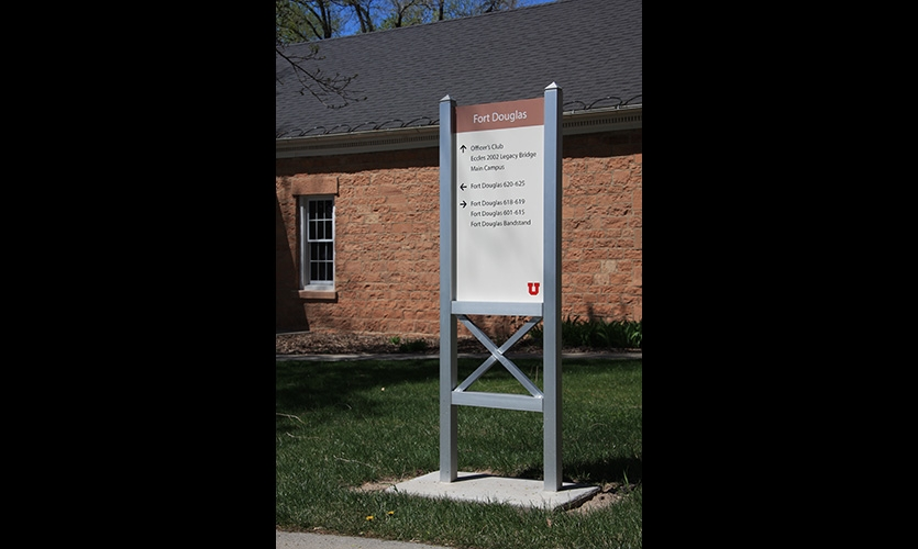 Now on the U.S. National Register of Historic Places, the civil war era Fort Douglas was closed in 1991 and most of the buildings turned over to the University of Utah. Fort Douglas is now a 'neighborhood' in the campus wayfinding system.