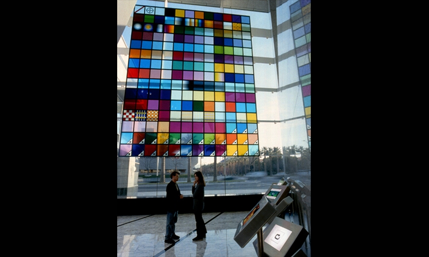 """20 By 25 Foot """"Color Swatch"""", Adobe Headquarters, Adobe Systems, Mauk Design"""