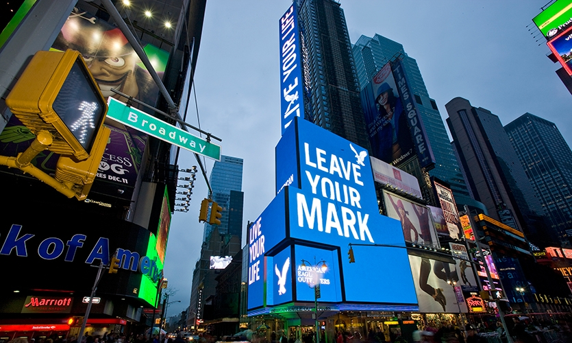 Leave Your Mark, American Eagle Outfitters Flagship Spectacular, American Eagle Outfitters, The Barnycz Group