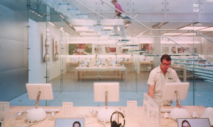 Display Table, Apple Soho, Apple Computer, Bohlin Cywinski Jackson, Ronnette Riley Architect, Apple Graphic Design, Eight, Inc.