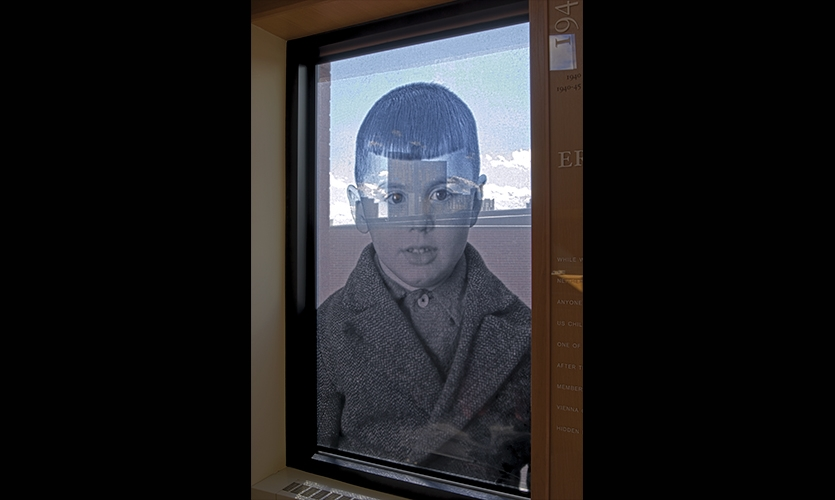 Photo on Window, Archiving Memory, University of Minnesota, Coyne Photography + Design