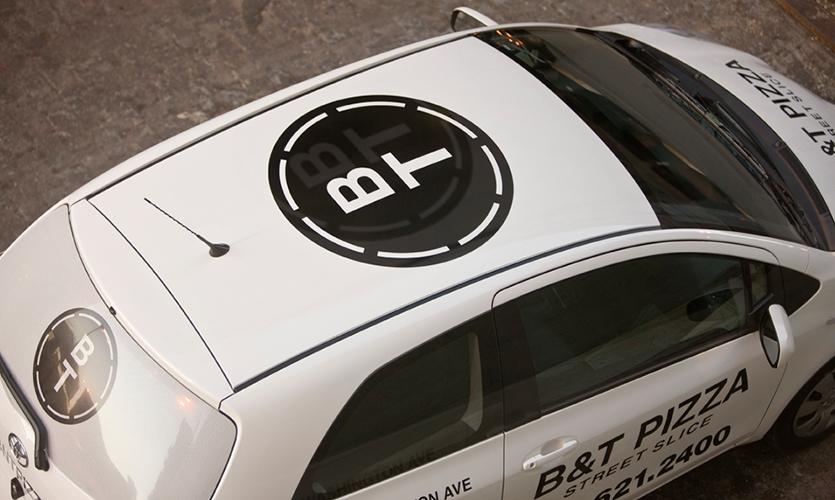 Logo on Car, B&T Pizza, Kuhlmann Leavitt