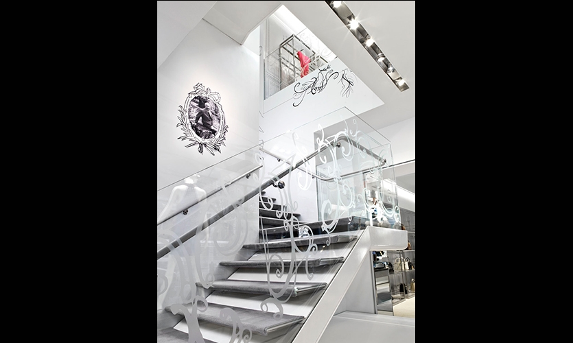 Stairs, Christian Dior Temporary Store, Christian Dior Couture, Gensler