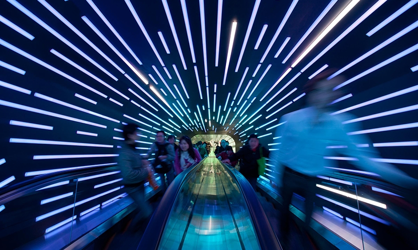 Walkway, Dream Cube: 2010 World Expo Shanghai Corporate Pavilion, Shanghai Corporate Community, ESI Design