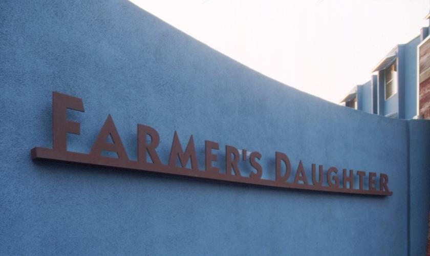 Lettering, Farmer's Daughter Hotel, Romero Thorsen Design