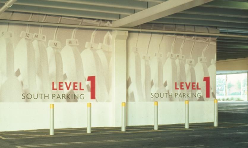 Parking Garage Graphics, Fashion Show Las Vegas, The Rouse Company, Sussman/Prejza & Co.