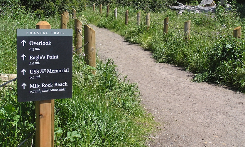 Wayfinding Signage, Golden Gates, Golden Gates National Parks Conservancy, Hunt Design