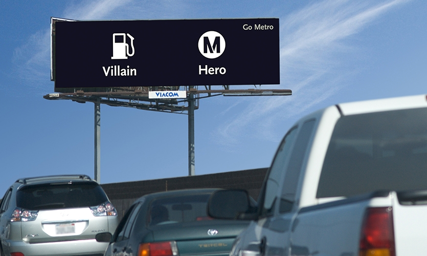 Outdoor Advertising, Metro Opposites Campaign, Los Angeles County Metropolitan Transportation Authority, Metro Creative Services