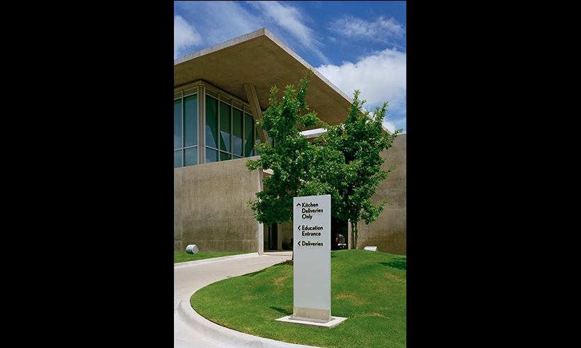 External Signage, The Modern Art Museum of Fort Worth, Pentagram