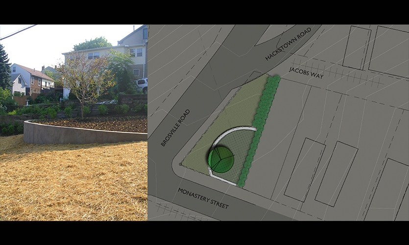 Plan, Monastery Street Park, South Side Slopes Neighborhood Association, Loysen + Kreuthmeier Architects