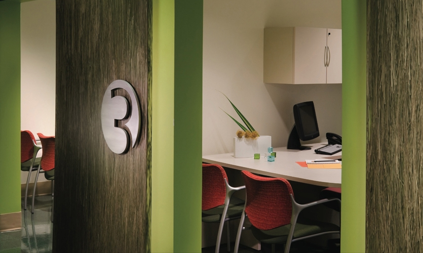 Office Number, Palmetto Health Children's Hospital Wayfinding and Graphics, Stanley Beaman & Sears