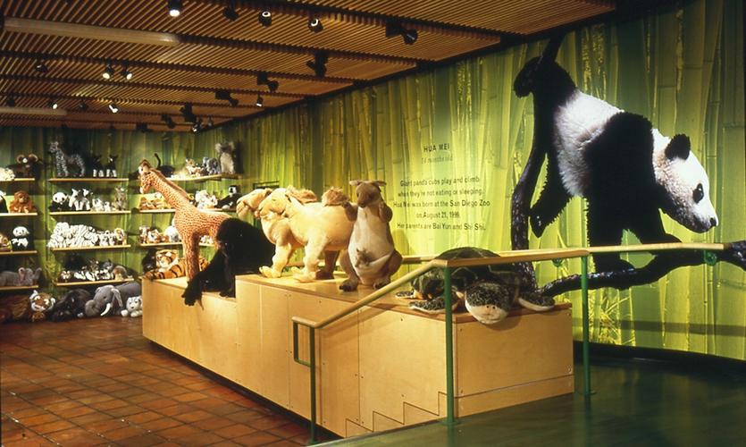 Stuffed Animals, San Diego Zoo Store, The Zoological Society of San Diego, Esherick Homsey Dodge & Davis, Schwartz Architects