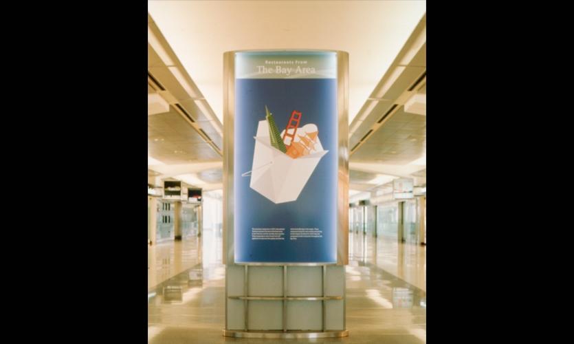 Signage, San Francisco International Terminal, San Francisco International Airport, Mayer/Reed
