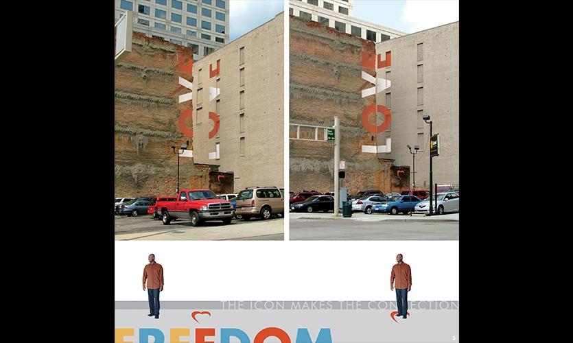 Awesome Letterforms On Building, Scrabble On The Cincinnati Skyline, Mike Ruehlman,  University Of Cincinnati Design