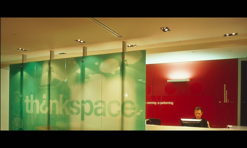 Graphic on Glass, Thinkspace, Macquarie Bank, Emery Vincent Design