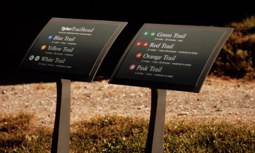 Tyler Arboretum Signage Segd