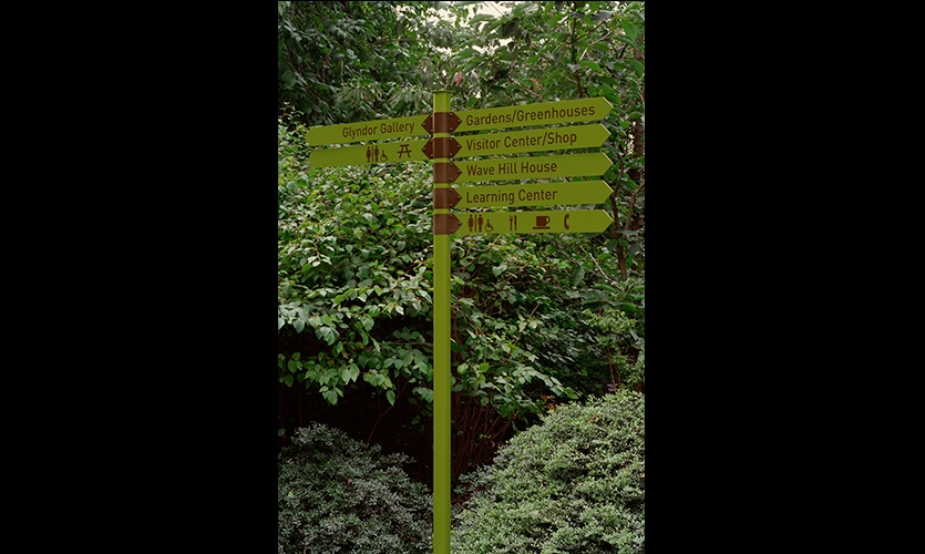 Wayfinding, Wave Hill, Pentagram