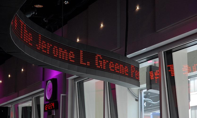LED News Ticker Display, WNYC Radio Broadcast Studios, WNYC, Poulin + Morris