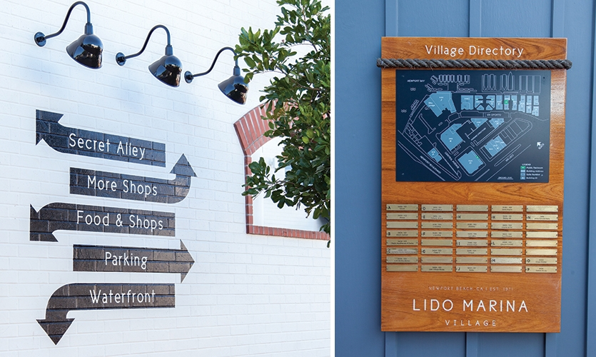 Each key location was evaluated individually to determine the exact size and finish for each sign whether it was a hand painted directional or a wall mounted directory.