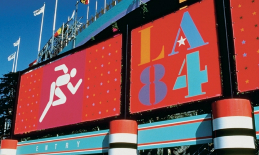 Perhaps Sussman was best known for her bold super graphics for the 1984 Summer Olympics in Los Angeles.