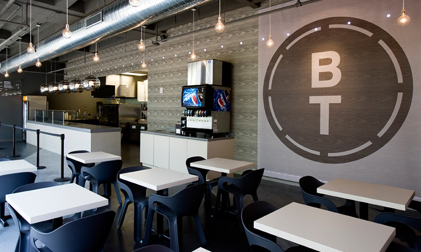 Logo and Wall Graphic, B&T Pizza, Kuhlmann Leavitt
