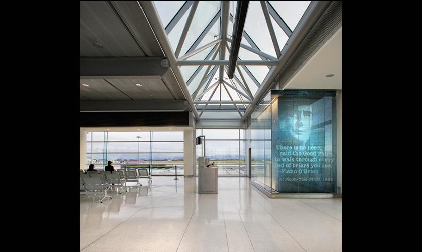 Dublin airport pier d environmental graphics segd for Interior design agency dublin