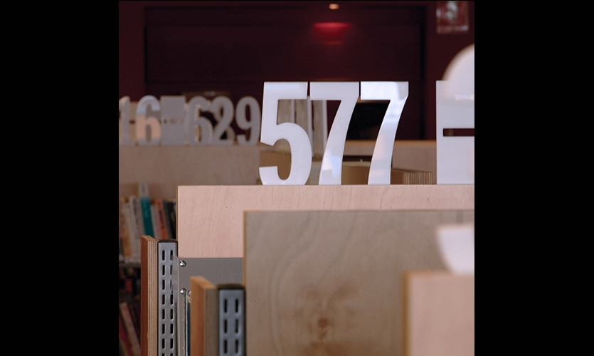 Lettering, Five Dock Library, City of Canada Bay, Minale Bryce Design Strategy