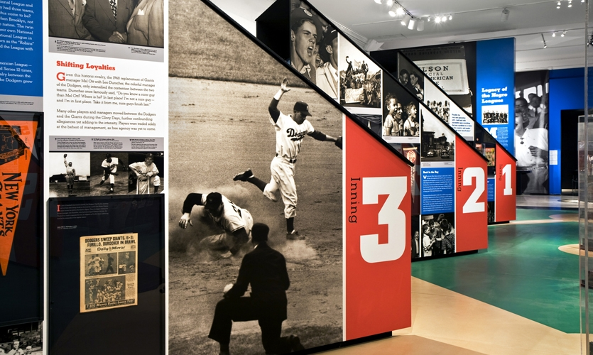 Information Graphics, Glory Days: New York Baseball 1947-1957, Museum of the City of New York, Pentagram