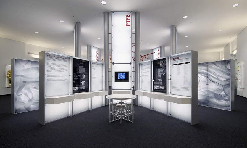 PTFE Module, W.L. Gore Capabilities Center, Carbone Smolan Agency